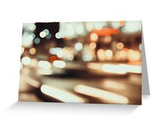 City Traffic Lights Background Greeting Card
