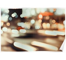 City Traffic Lights Background Poster
