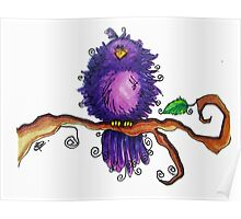 Purple Birdy Poster