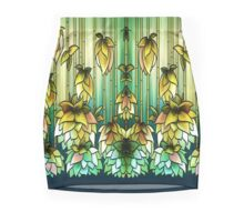 Tiffany Lamp Inspired - Hanging Flowers - Green Mini Skirt