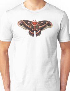 Hyalophora Cecropia Moth (white background) Unisex T-Shirt