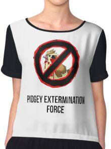 Pokemon GO: Pidgey Extermination Force T-Shirt (Tasteless) Chiffon Top