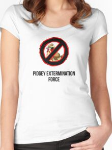 Pokemon GO: Pidgey Extermination Force T-Shirt (Tasteless) Women's Fitted Scoop T-Shirt