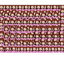 Sassy Emoji Collage Photographic Print