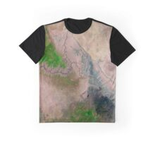 Satellite Image Grand Canyon National Park Arizona  Graphic T-Shirt