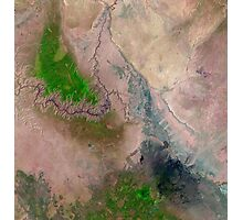 Satellite Image Grand Canyon National Park Arizona  Photographic Print