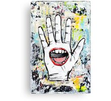 The Hand That Feeds Canvas Print