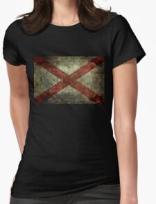 Alabama state flag Womens Fitted T-Shirt