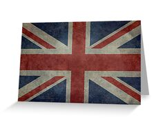 Union Jack Desaturated Grunge (3:5 Version) Greeting Card