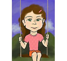 Girl in Swing Photographic Print