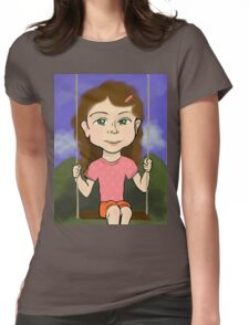 Girl in Swing Womens Fitted T-Shirt