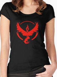 Pokemon Go | Team Valor | Black Background | HUGE | New! | High Quality! Women's Fitted Scoop T-Shirt