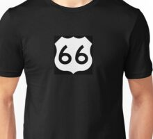 Route 66 - US Highway Road Trip T-Shirt Poster Sticker Unisex T-Shirt