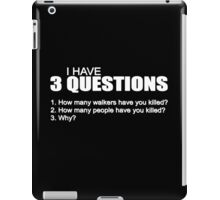 3 questions_Walking dead iPad Case/Skin