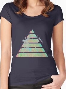 Vaporwave Pyramid Women's Fitted Scoop T-Shirt