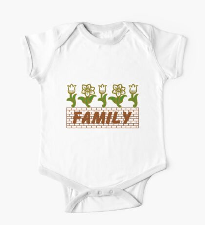 Flowers Family One Piece - Short Sleeve