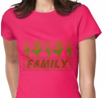 Flowers Family Womens Fitted T-Shirt