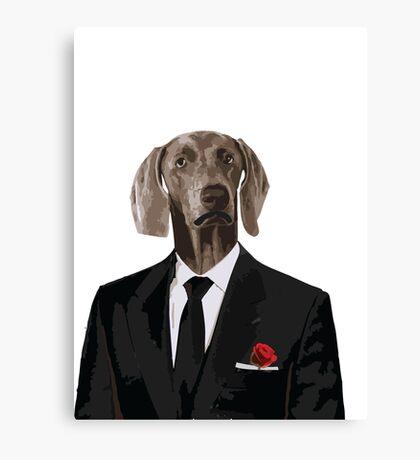 The Dog Father - Godfather parody Canvas Print