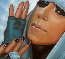 Lady Gaga Painting Sticker