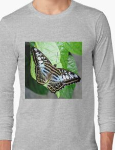 Blue Tiger Butterfly Long Sleeve T-Shirt