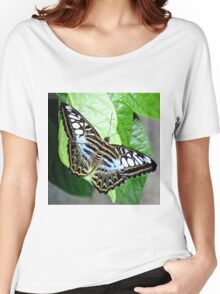 Blue Tiger Butterfly Women's Relaxed Fit T-Shirt