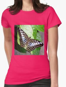 Blue Tiger Butterfly Womens Fitted T-Shirt