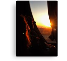 Sunset at Petra Canvas Print