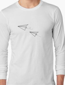 Paper Airplanes Long Sleeve T-Shirt