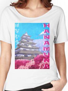 Hanamura Vintage Travel Poster Women's Relaxed Fit T-Shirt