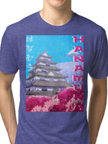 Hanamura Vintage Travel Poster Tri-blend T-Shirt