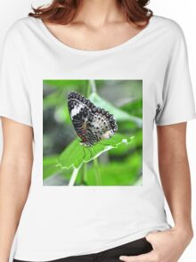 Black and White Butterfly Women's Relaxed Fit T-Shirt