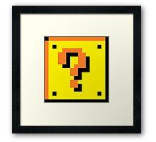 Mario Brothers Mystery Box Framed Print
