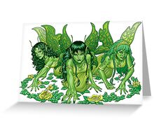 Green Fairy Trio  Greeting Card