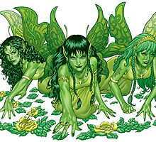 Green Fairy Trio  by alrioart
