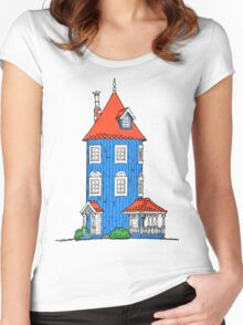Moomin House Women's Fitted Scoop T-Shirt