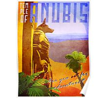 Temple of Anubis Vintage Travel Poster Poster