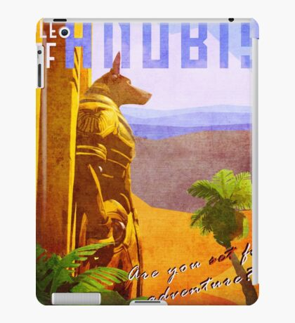 Temple of Anubis Vintage Travel Poster iPad Case/Skin