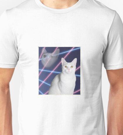 80'S LASER BACKGROUND CAT 2 Unisex T-Shirt