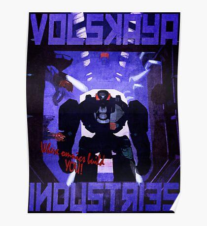 Volskaya Indsustries Vinage Travel Poster Poster