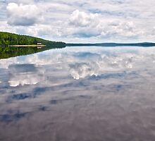 Eagle Lake Reflection by Caleb Ward