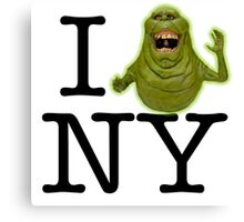 Ghostbusters - I SLIMER New York Canvas Print