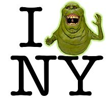 Ghostbusters - I SLIMER New York Photographic Print