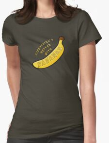 Better With Bananas Womens Fitted T-Shirt