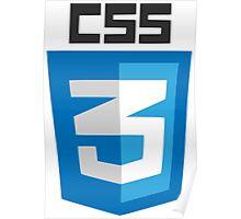 CSS3 logo Poster