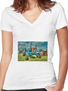 Fordson Custom  Women's Fitted V-Neck T-Shirt