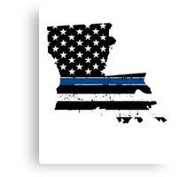 Pray For Baton Rouge Louisiana Blue Line Canvas Print