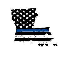 Pray For Baton Rouge Louisiana Blue Line Photographic Print