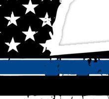 Pray For Baton Rouge Louisiana Blue Line Sticker