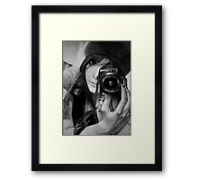 Eye of the lens Framed Print