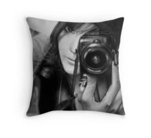Eye of the lens Throw Pillow
